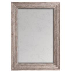 Bistro French Country Ribbed Antique Rectangular Mirror