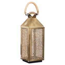 Ludwig Modern Classic Gold Woven Brass Lantern