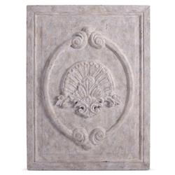 Maçonnerie Antique White French Country Carved Wood Panel Wall Sculpture | BLISS-WD-4314