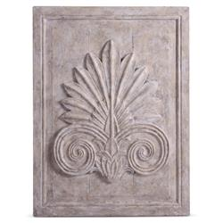 Maçonnerie Antique French Country Acanthus Leaf Carved Wood Wall Sculpture