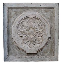 Athenia Greek Distressed French Country Vintage Carved Wood Panel