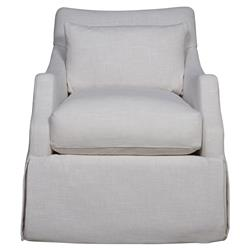 Melody Modern Classic Ivory Upholstered Arm Chair