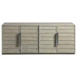 Abbie Modern Classic Grey Louvered Door Media Cabinet