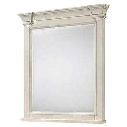 Juliet French Country Ivory Wood Beveled Wall Mirror