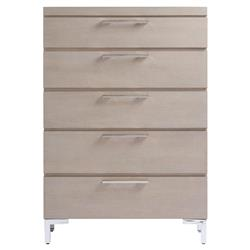 Brian Modern Classic Grey 5 Drawer Tall Wood Dresser