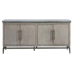 Stafford Modern Classic Grey Top Grey Wood Media Cabinet