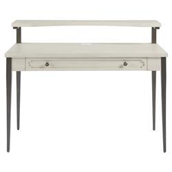 Eleanor Modern Classic Ivory Wood Metal Desk