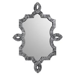 Bethany Hollywood Regency Grey Smoke Bone Inlay Wall Mirror