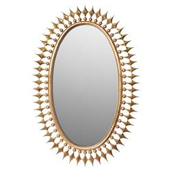 Wellington Oval Hollywood Regency Sunburst Radiant Mirror - Gold