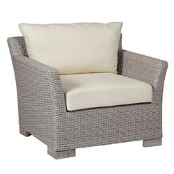 Summer Classics Club Woven Modern Grey Woven Wicker Outdoor Lounge Chair
