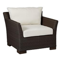 Summer Classics Club Woven Modern Black Woven Wicker Outdoor Lounge Chair