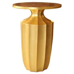 Flirt Art Deco Regency Modern Fluted Brass Side Table