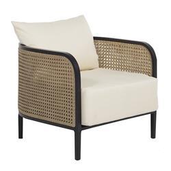 Summer Classics Havana Modern Beige Wicker Outdoor Lounge Chair