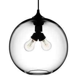 Niche Modern Binary Crystal Hand-blown Glass Globe Pendant Light