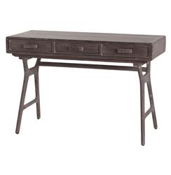 Phillip Mushroom Industrial Wooden Three-Drawer Desk | ART-2006