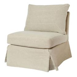 Cisco Brothers Seda Modern Classic Burlap Linen Slipcovered Armless Chair
