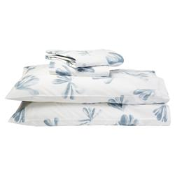 Alma by Sferra Modern Alumbra Sheet Set - Queen Snow Blue