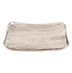 Sophia Hollywood Regency Large Rectangular Polished Nickel Tray | ART-6990