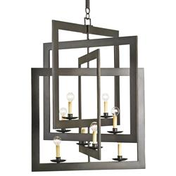Modern Industrial Geometric 8 Light Pendant Chandelier