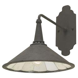 Hailey Industrial Loft Black Metal Wall Sconce