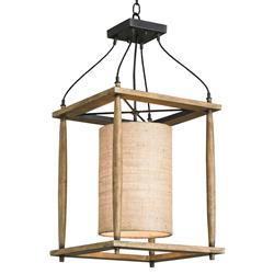 Natural Ash Rustic Lodge Pendant Lantern