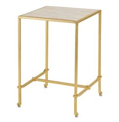 Classic Gold Leaf Frame Hollywood Regency Side Table | Kathy Kuo Home