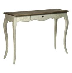 French Country Rochelle Narrow Curved Leg Console Table