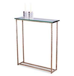 Edland Modern Silver Leaf Glass Console Sofa Table