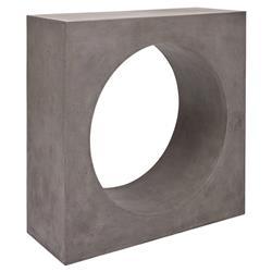 Roma Industrial Loft Norrow Grey Concrete Outdoor Console Table
