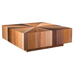 Susie Modern Classic Starburst Top Square Coffee Table