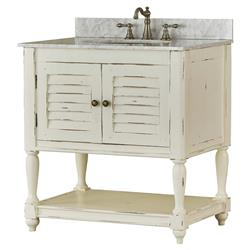 Lina French Country Antique White Vanity Sink
