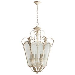 Florent White Washed French Country 6 Light Entry Lantern Pendant | CYAN-05781