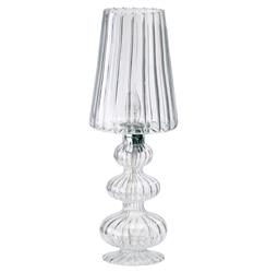 Maya Belle French Deco Clear Glass Table Lamp