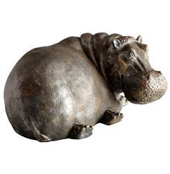 Ms. Helen Sitting Hippo Sculpture