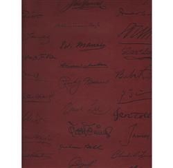 Autograph Reading Room Wallpaper - Red - 2 Rolls