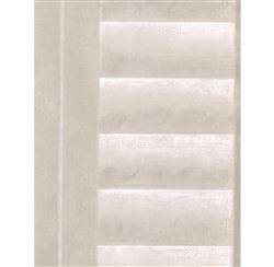 Plantation Distressed Louvered Window Wallpaper - Linen