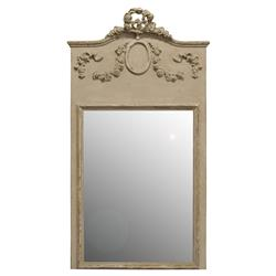 Brooke French Country Brown Wood Rectangular Floor Mirror