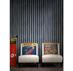 Industrial Palmer Corrugated Steel Wallpaper - Iron