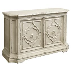 Bea French Country Ivory Wood 2 Door Buffet Sideboard