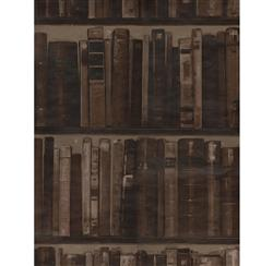 Wall Of Books Library Wallpaper - Leather - 2 Rolls