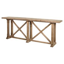 Darci Rustic Lodge Brown Reclaimed Wood Rectangular Console Table