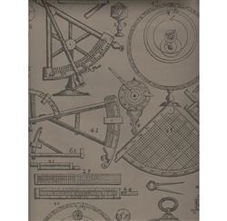 Industrial Scientific Newton Wallpaper - Coffee - 2 Rolls