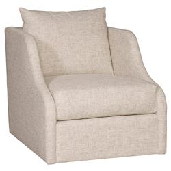 Vanguard Cora Modern Classic Light Beige Upholstered Swivel Arm Chair
