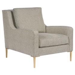 Vanguard Josie Modern Classic Grey Upholstered Gold Occasional Arm Chair