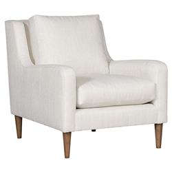 Vanguard Josie Modern Classic White Upholstered Occasional Arm Chair