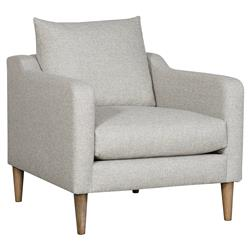 Vanguard Josie Modern Classic Light Grey Upholstered Occasional Arm Chair