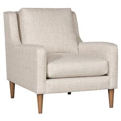 Vanguard Josie Modern Classic Beige Upholstered Occasional Arm Chair