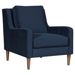 Vanguard Josie Modern Classic Blue Upholstered Occasional Arm Chair