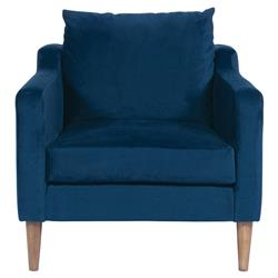 Vanguard Thea Modern Classic Blue Upholstered Occasional Arm Chair