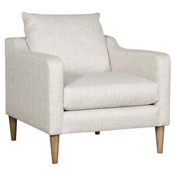Vanguard Thea Modern Classic Beige Upholstered Occasional Arm Chair